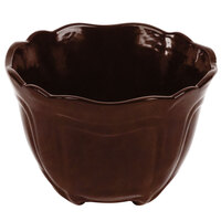 Tablecraft CW1454TC 1.3 qt. Terra-Cotta Cast Aluminum Round Condiment Bowl