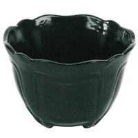 Tablecraft CW1454HGNS 1.3 Qt. Hunter Green with White Speckle Cast Aluminum Round Condiment Bowl
