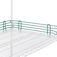Metro L24N-4-DHG Super Erecta Hunter Green Stackable Ledge 24 inch x 4 inch