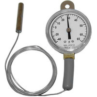 All Points 62-1043 2 inch Dial Refrigerator / Freezer Thermometer with 48 inch Capillary