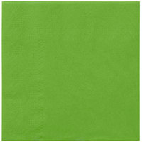 Hoffmaster 180361 Fresh Lime Green Beverage / Cocktail Napkin - 250/Pack