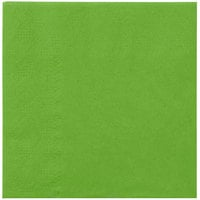Hoffmaster 180361 Fresh Lime Green Beverage / Cocktail Napkin - 250 / Pack