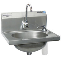Eagle Group HSA-10-FE-B-DS-MG MicroGard Hand Sink with Faucet, Soap Dispenser, and Basket Drain