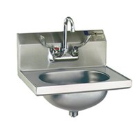 Eagle Group HSA-10-FW-MG MicroGard Hand Sink with Gooseneck Faucet, Wrist Action Handles, and Basket Drain