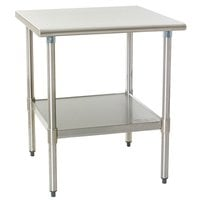 Eagle Group T2430EB 24 inch x 30 inch Stainless Steel Work Table with Galvanized Undershelf