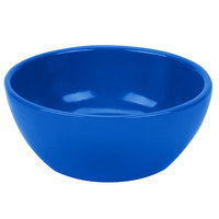 Tablecraft CW11082CBL 10.5 oz. Cobalt Blue Cast Aluminum Small Round Display Bowl