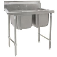 Eagle Group 314-18-2 Two Compartment Stainless Steel Commercial Sink without Drainboards - 45 1/2 inch