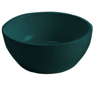 Tablecraft CW11082HGN 10.5 oz. Hunter Green Cast Aluminum Small Round Display Bowl