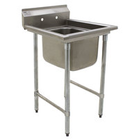 Eagle Group 314-24-1 One Compartment Stainless Steel Commercial Sink without Drainboard - 31 1/2 inch