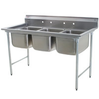 Eagle Group 314-18-3 Three Compartment Stainless Steel Commercial Sink without Drainboards - 65 1/2 inch