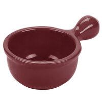 Tablecraft CW3375TC 18 oz. Terra-Cotta Cast Aluminum Soup Bowl with Handle