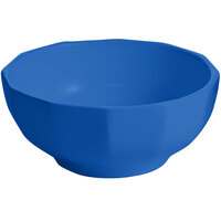 Tablecraft CW1820CBL 2.5 Qt. Cobalt Blue Cast Aluminum Prism Bowl