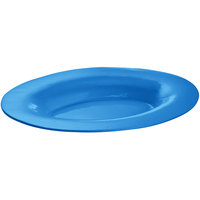 Tablecraft CW12025SBL 19 inch x 15 inch Sky Blue Cast Aluminum Wide Rim Oval Display Platter