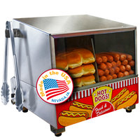 Paragon 8080 Classic Dog Hot Dog Steamer and Merchandiser 120V, 1200W