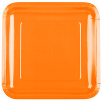 Creative Converting 463282 9 inch Sunkissed Orange Square Paper Plate - 180 / Case