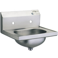 Eagle Group HSA-10-8 Hand Sink with 8 inch Center Holes and Basket Drain