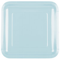 Creative Converting 463279 9 inch Pastel Blue Square Paper Dinner Plate - 180/Case