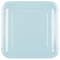 Creative Converting 463279 9 inch Pastel Blue Square Paper Plate - 180/Case