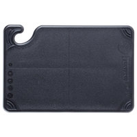 San Jamar CBG6938BK Black Saf-T-Grip 6 inch x 9 inch x 3/8 inch Non-Slip Grip Cutting Board - Bar Size
