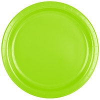 Creative Converting 473123B 9 inch Fresh Lime Green Paper Dinner Plate - 240/Case