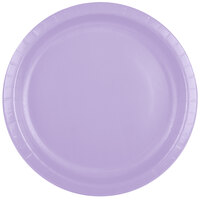 Creative Converting 50193B 10 inch Luscious Lavender Paper Banquet Plate - 240/Case