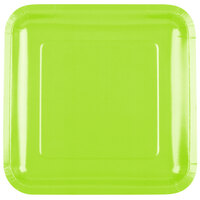 Creative Converting 463123 9 inch Fresh Lime Green Square Paper Dinner Plate - 180/Case