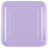 Creative Converting 463265 9 inch Luscious Lavender Square Paper Dinner Plate - 180/Case
