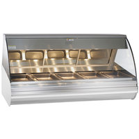 Alto-Shaam HN2-72 S/S Stainless Steel Countertop Heated Display Case with Curved Glass - Full Service 72 inch