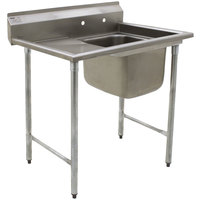 Eagle Group 314-24-1-24 31 3/4 inch x 52 3/4 inch One Bowl Stainless Steel Commercial Compartment Sink with Drainboard