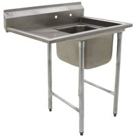 Eagle Group 414-24-1-24 31 3/4 inch x 52 3/4 inch One Bowl Stainless Steel Commercial Compartment Sink with Drainboard