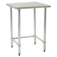 Eagle Group T3036STB 30 inch x 36 inch Open Base Stainless Steel Commercial Work Table