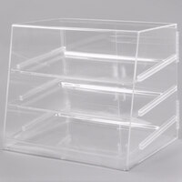 Cal-Mil P254 Three Tier Slanted Front Acrylic Display Case - 26 1/2 inch x 22 1/2 inch x 23 1/2 inch