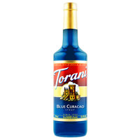 Torani 750 mL Blue Curacao Flavoring Syrup