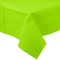 Creative Converting 713123B 54 inch x 108 inch Fresh Lime Green Tissue / Poly Table Cover - 24/Case