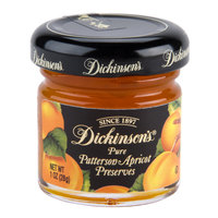 Dickinson's Patterson Apricot Fruit Preserves - (72) 1 oz. Glass Jars / Case