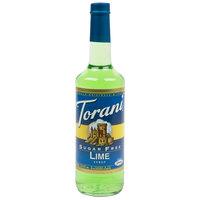 Torani 750 mL Sugar Free Lime Flavoring / Fruit Syrup