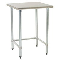 Eagle Group T2436STEB 24 inch x 36 inch Open Base Stainless Steel Commercial Work Table