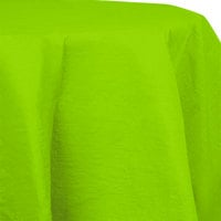 Creative Converting 923123 82 inch Fresh Lime Green OctyRound Tissue / Poly Table Cover - 12/Case