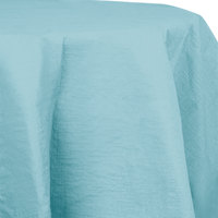 Creative Converting 923882 82 inch Pastel Blue OctyRound Tissue / Poly Table Cover - 12 / Case