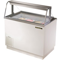 True TDC-47-CG 47 inch Curved Glass Ice Cream Dipping Cabinet
