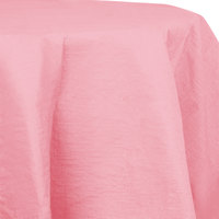 Creative Converting 923274 82 inch Classic Pink OctyRound Tissue / Poly Table Cover - 12 / Case