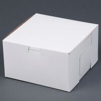 7 inch x 7 inch x 4 inch White Cake / Bakery Box - 10 / Bundle