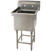 Eagle Group FN2020-1-14/3 One 20 inch x 20 inch Bowl Stainless Steel Spec-Master Commercial Compartment Sink