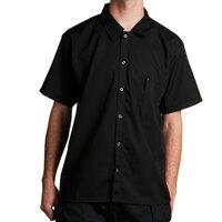 Chef Revival CS006BK Black Poly-Cotton Short Sleeve Cook Shirt Size XL