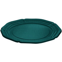 Tablecraft CW6120HGNS Hunter Green with White Speckle 21 inch Cast Aluminum Queen Anne Round Platter
