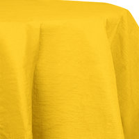 Creative Converting 923269 82 inch School Bus Yellow OctyRound Tissue / Poly Table Cover - 12 / Case