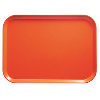 Cambro 1014222 10 5/8 inch x 13 3/4 inch Rectangular Orange Pizzazz Fiberglass Camtray - 12/Case