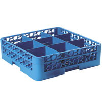 Carlisle RG9-114 OptiClean 9 Compartment Glass Rack with 1 Extender