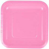 Creative Converting 453042 7 inch Candy Pink Square Paper Lunch Plate - 180/Case