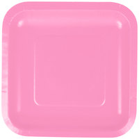 Creative Converting 453042 7 inch Candy Pink Square Paper Plate - 180/Case